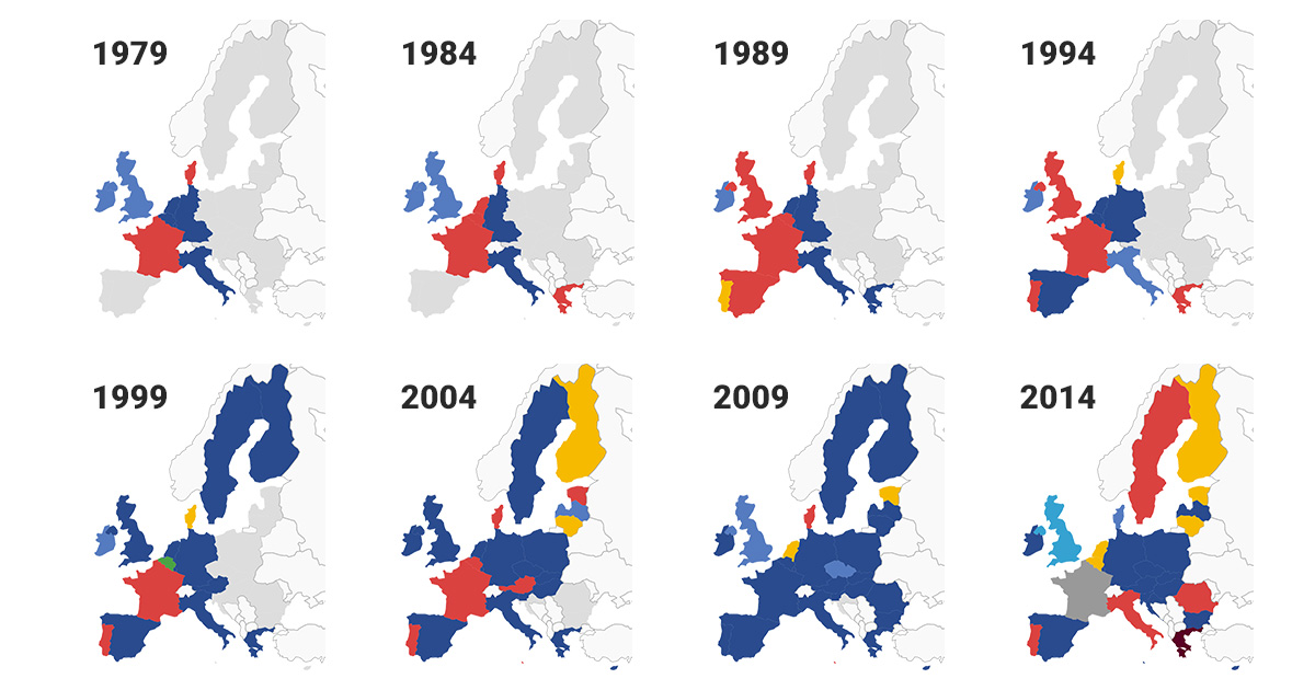 Europawahl - alle Ergebnisse seit 1979