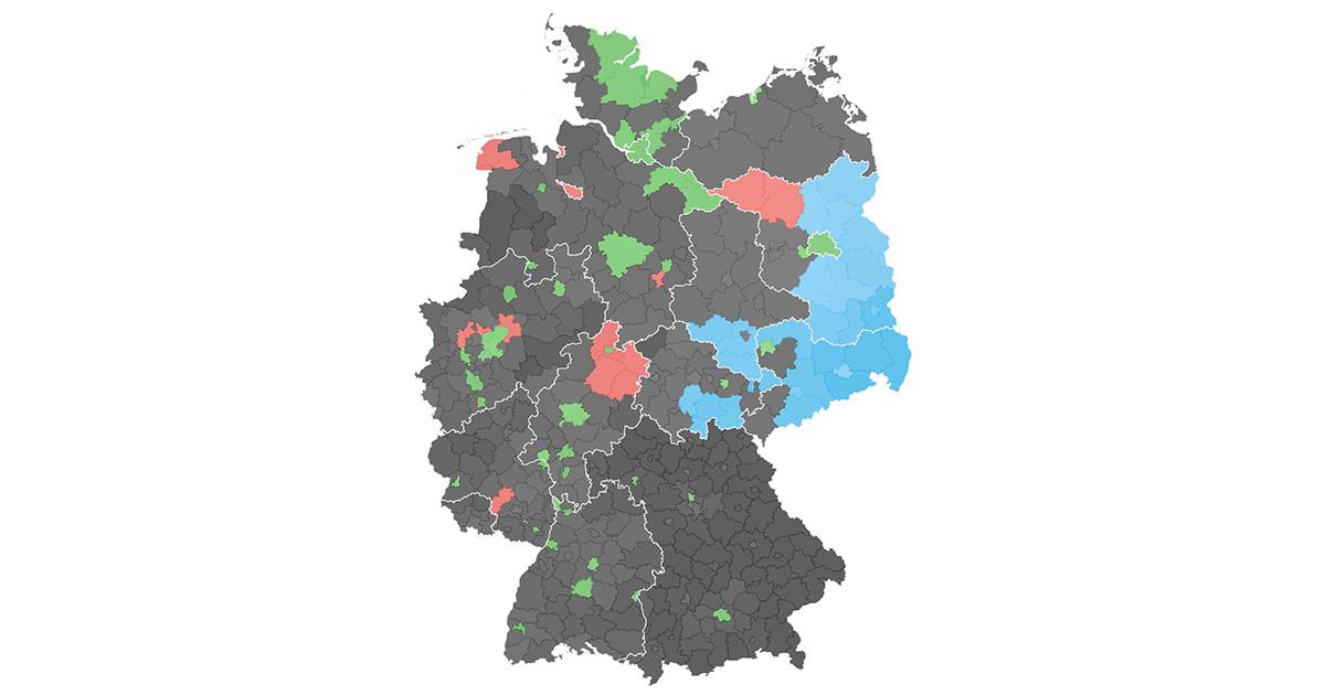 Bundesland Karte Mit Städten.Europawahl 2019 So Hat Deutschland Gewählt