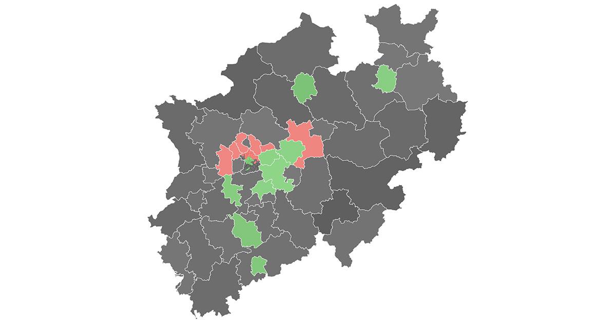 Karte Von Nrw.Europawahl Karte 2019 So Hat Nrw Gewählt