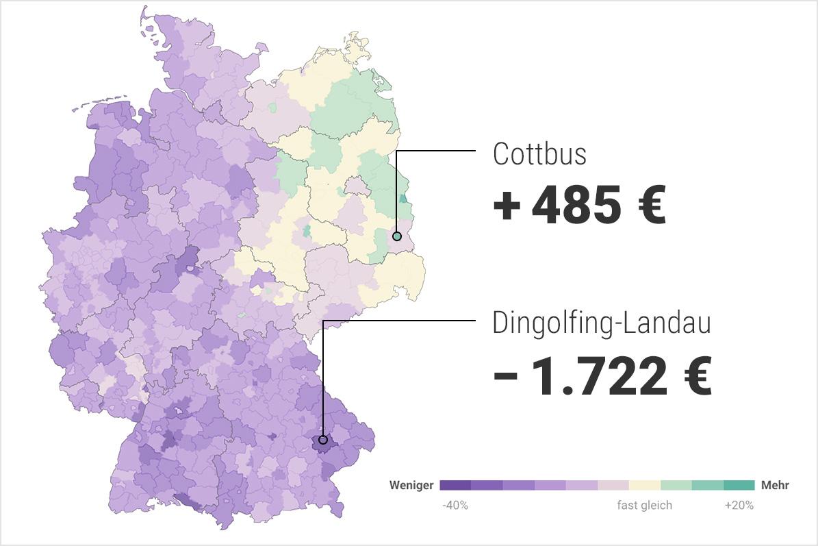 Zur interaktiven Karte der Gehaltsunterschiede