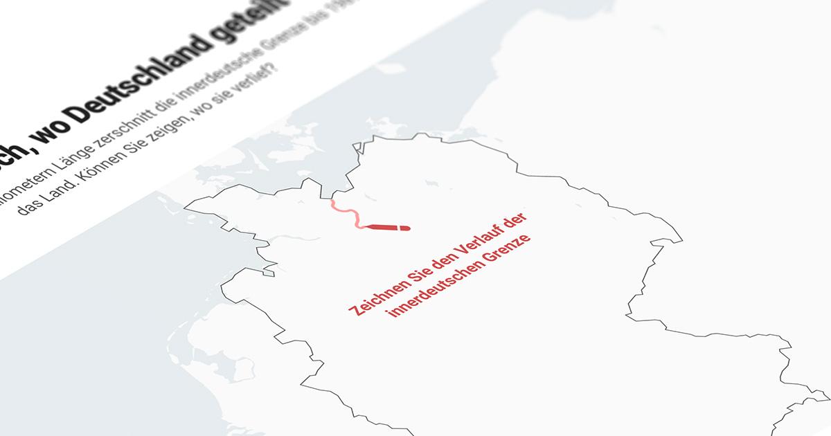 Zeichnen Sie Die Innerdeutsche Grenze
