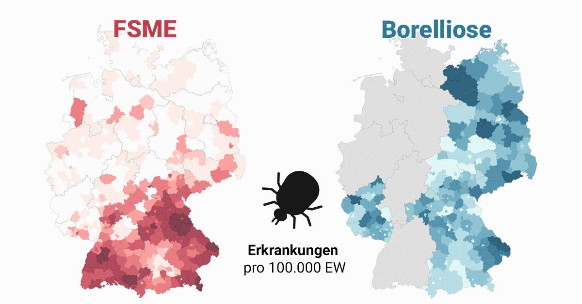 Zecken Atlas Wo Sich Zecken In Deutschland Festsaugen